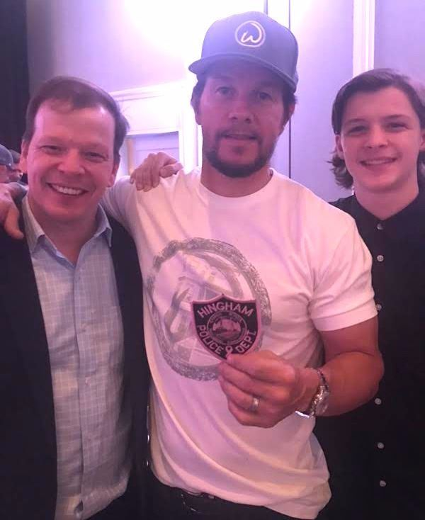 Mark & Paul Wahlberg supporting the HPD Pink Patch Project