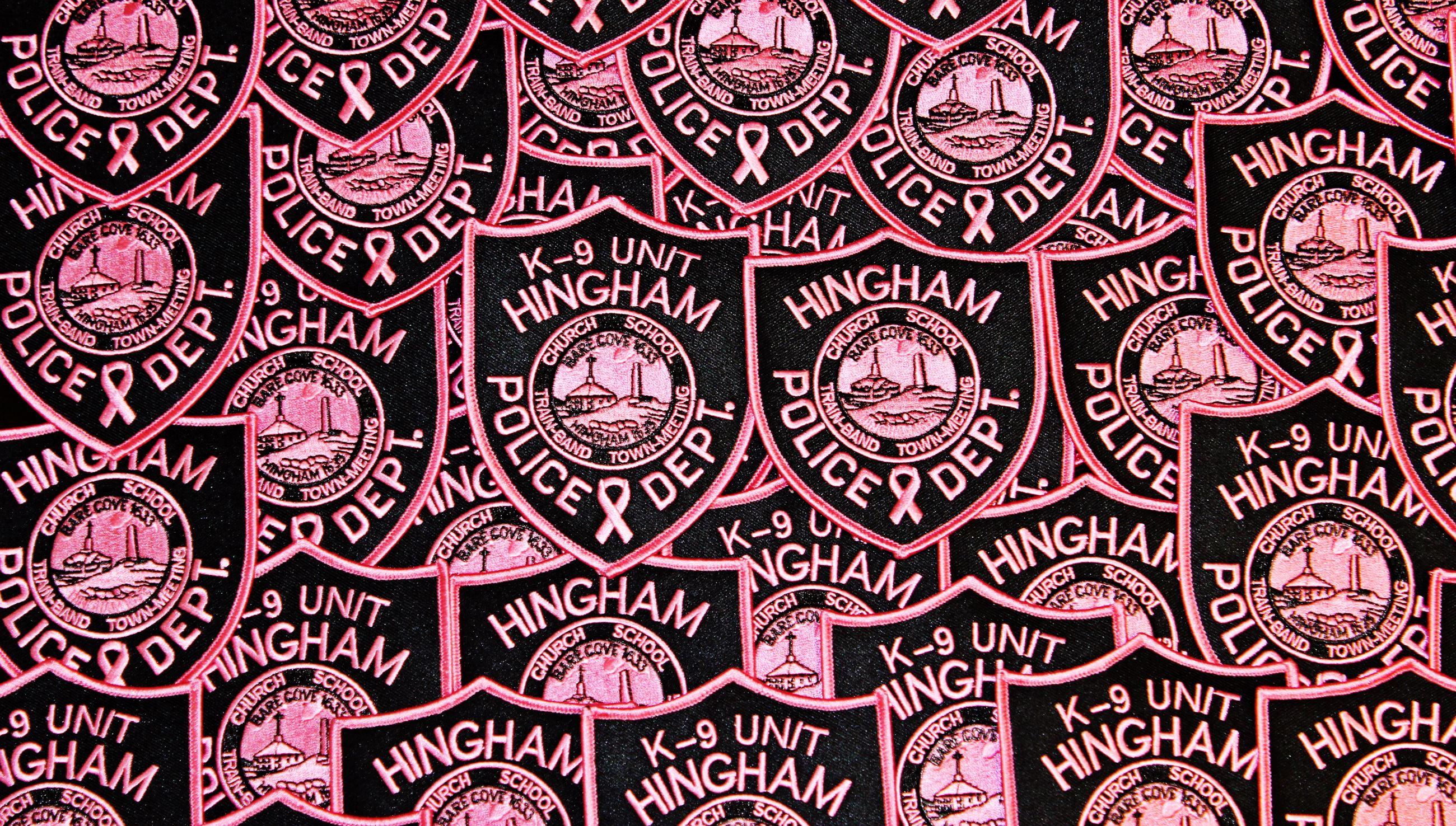 Hingham Police Pink Patches