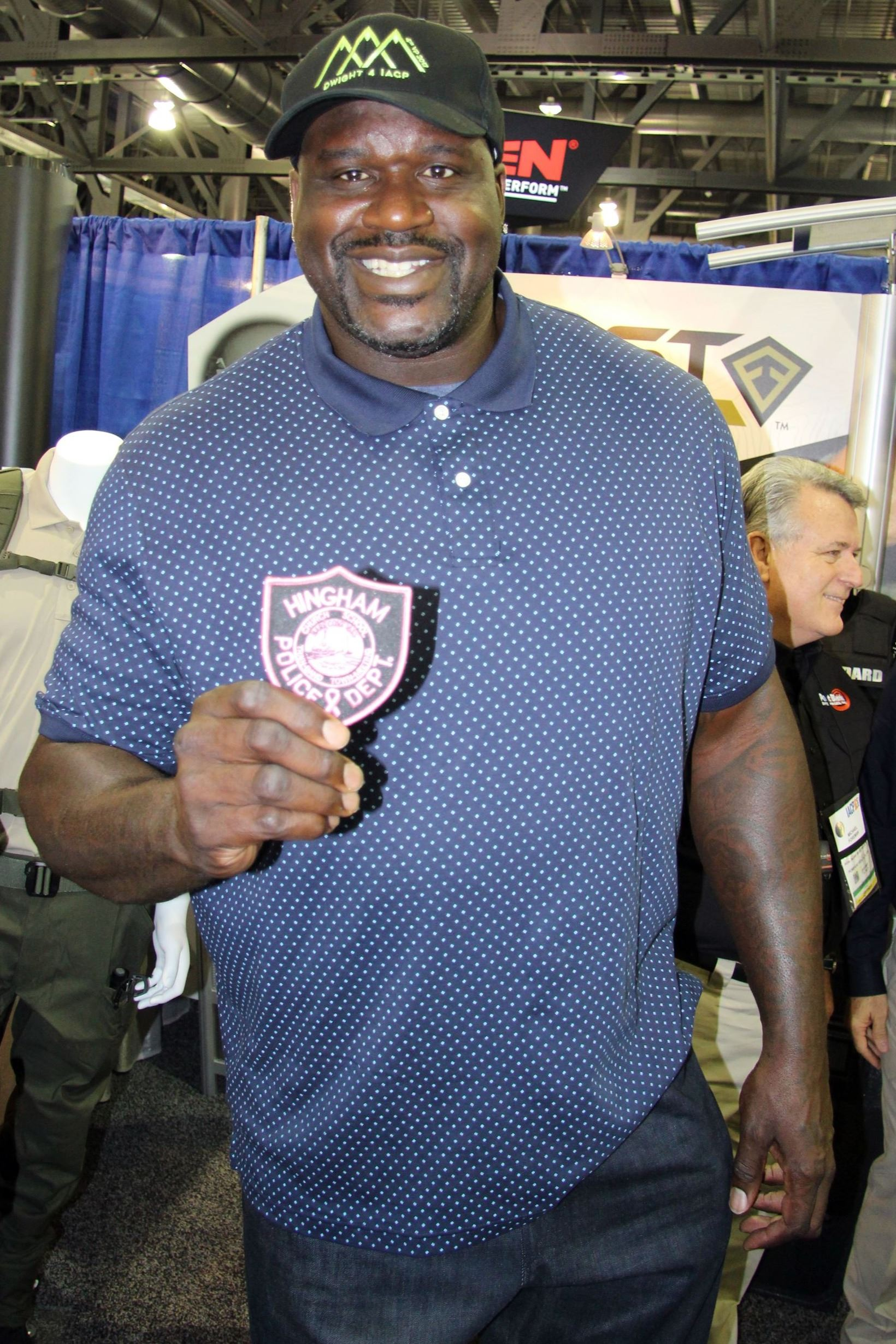 Shaq Supporting HPD Pink Patch Project