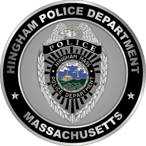 Hingham Police Dept Nickel Coin Massachusetts MC AR Front