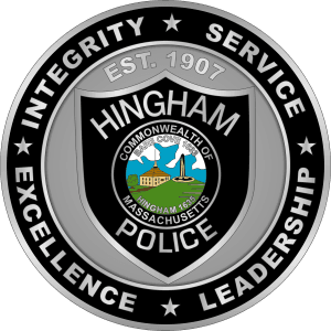 Hingham Police Dept Nickel Coin Massachusetts MC AR